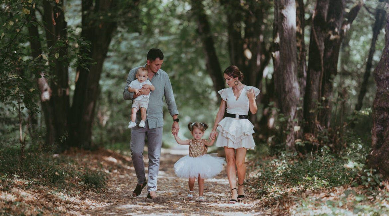 Familie și nou născut